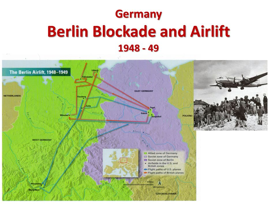 Germany Berlin Blockade and Airlift