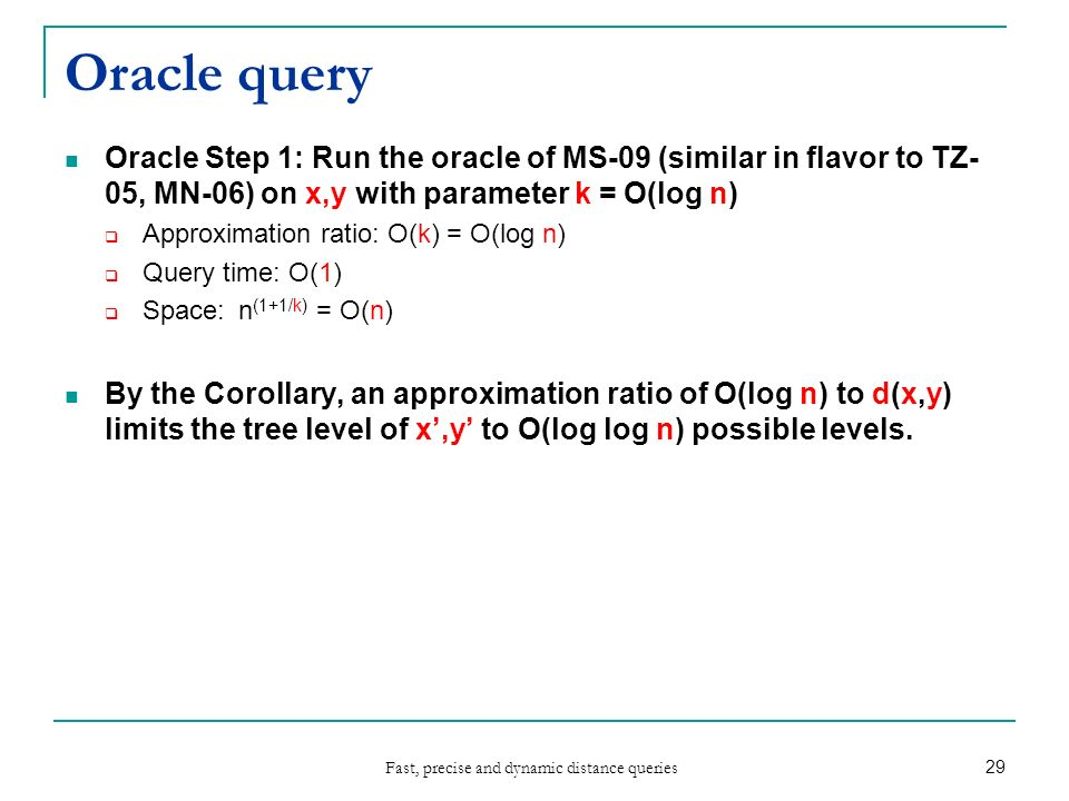 Fast, precise and dynamic distance queries Yair BartalHebrew