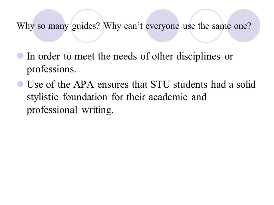apa style stands for