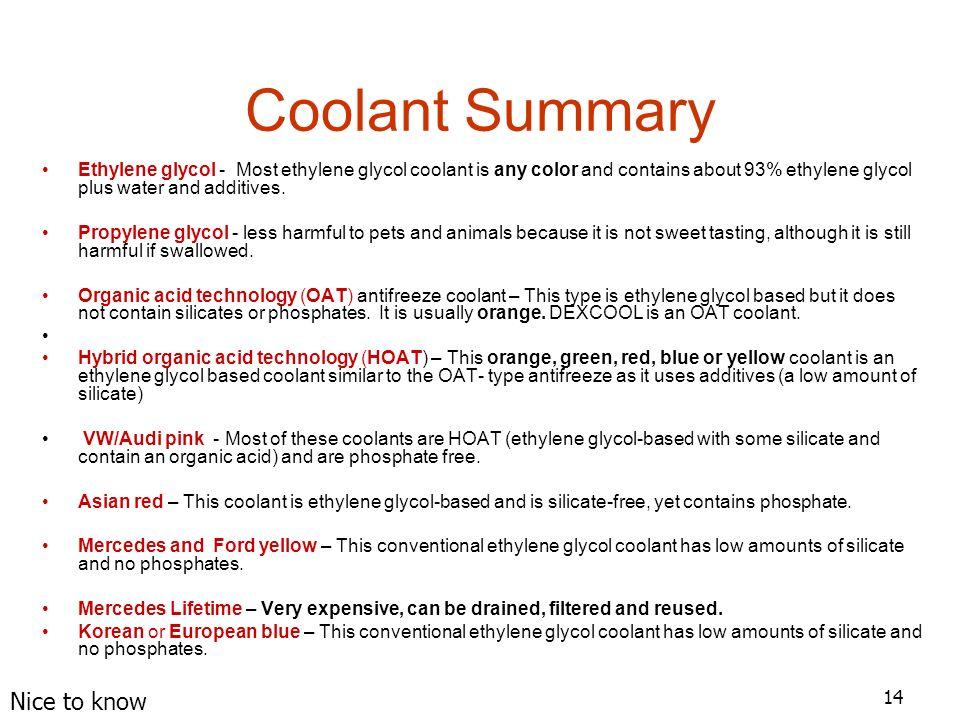 1 1 Coolants Tom Birch Jim Halderman  2 Former flat-rate