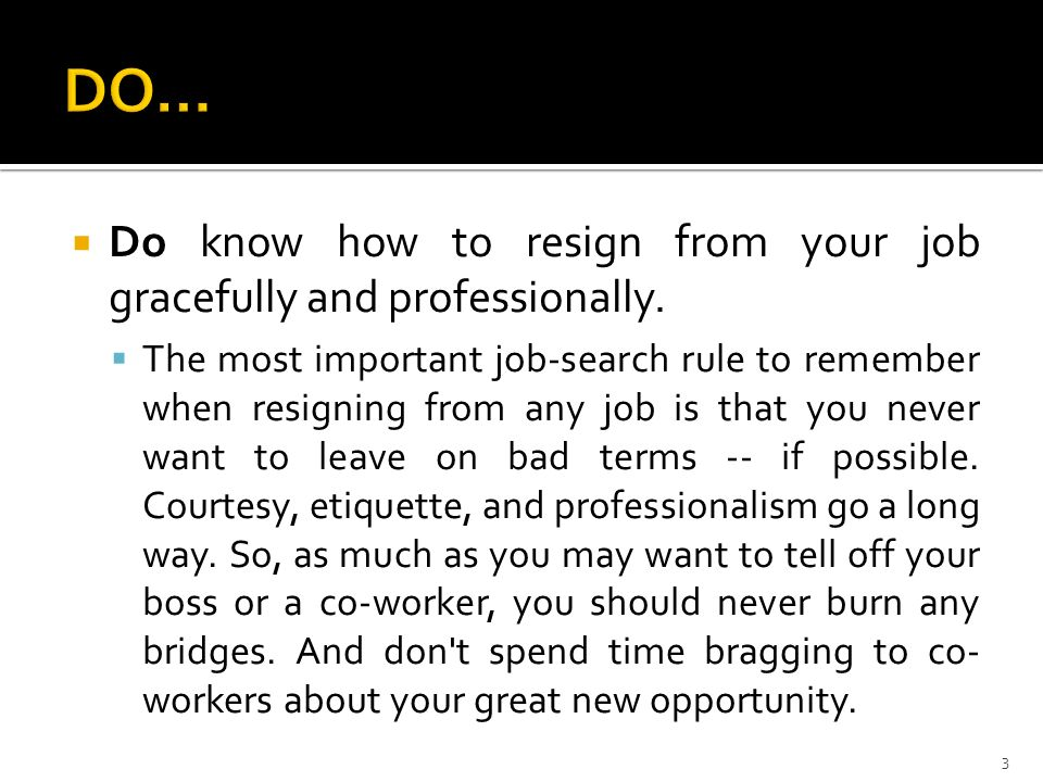 Pr Resignation Dos And Donts | 1 If You Preparing To Resign From Your Current Job Here Are