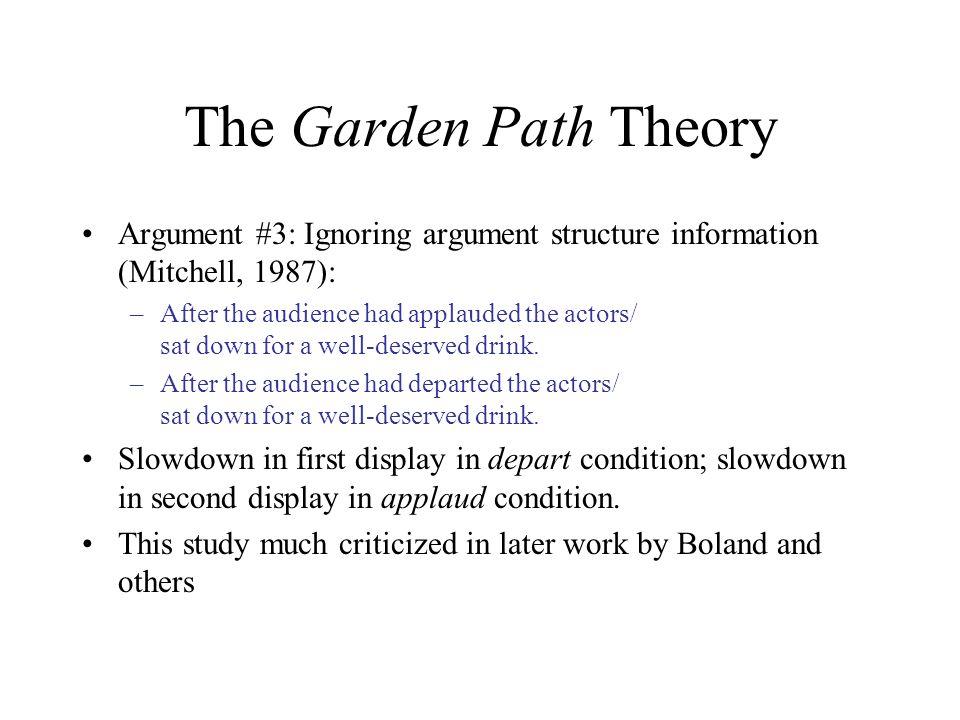 garden path theory