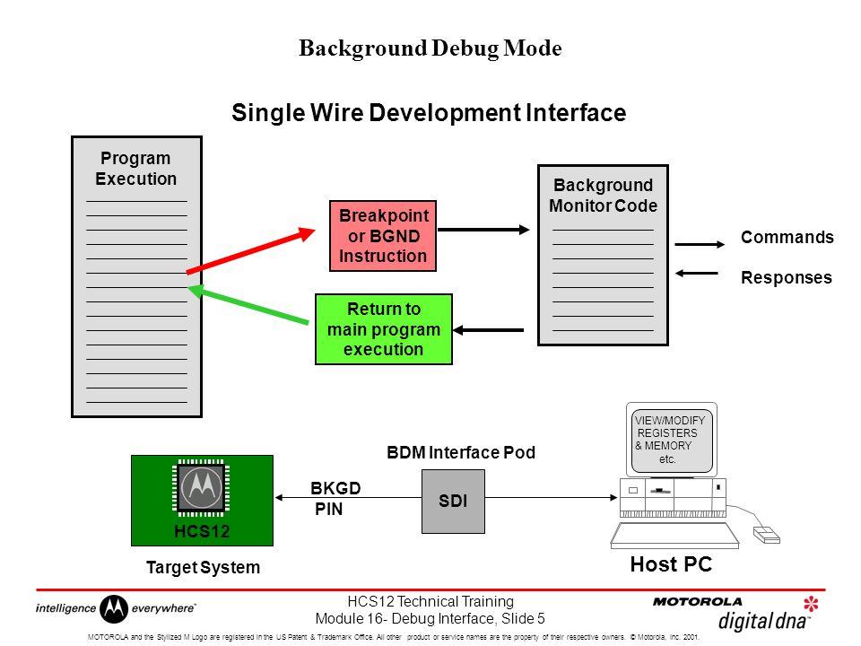 HCS12 Technical Training Module 16- Debug Interface, Slide 1