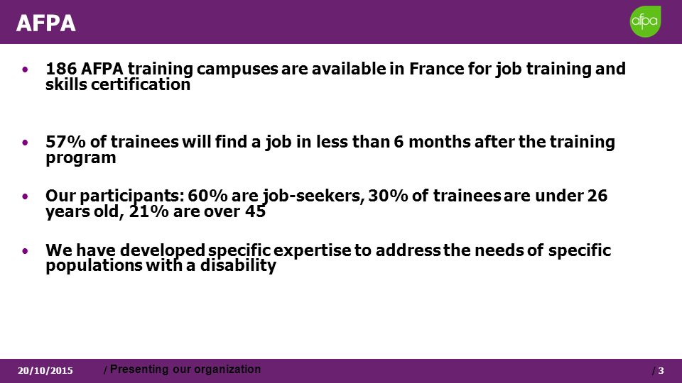 Afpa The First Training Provider In France Afpa High Effectiveness
