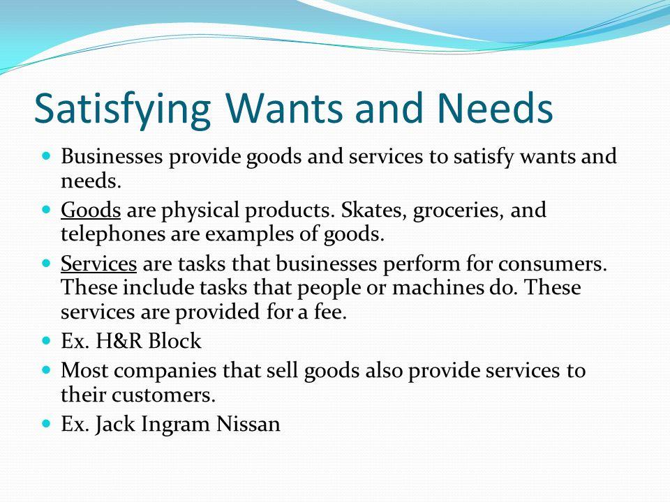 Chapter 1 Basic Economic Concepts  Vocabulary Wants Needs