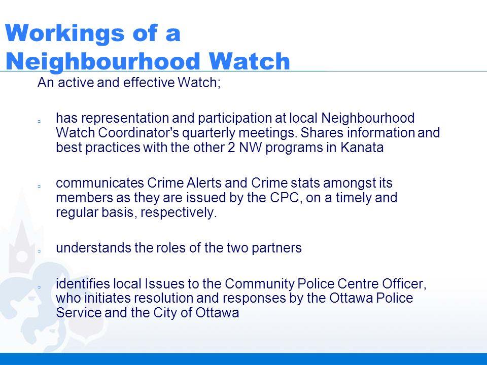 Ottawa Neighbourhood Watch Stittsville-Kanata West Ward