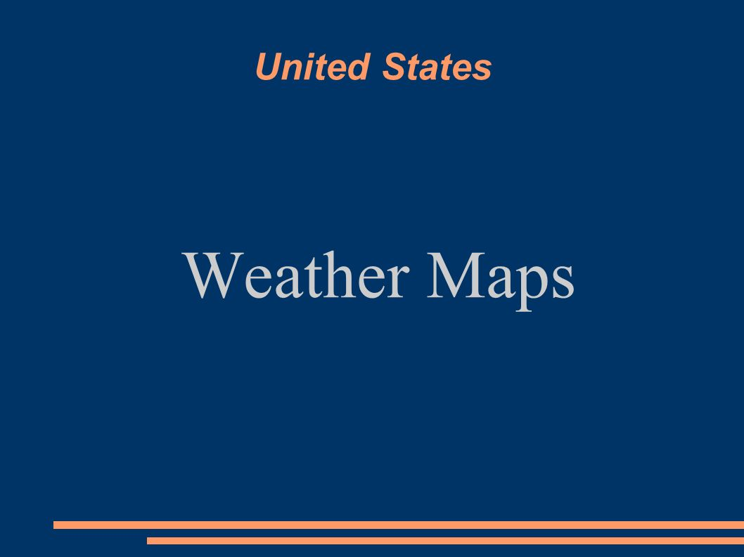 United States Weather Maps How To Read A Surface Map Surface Maps