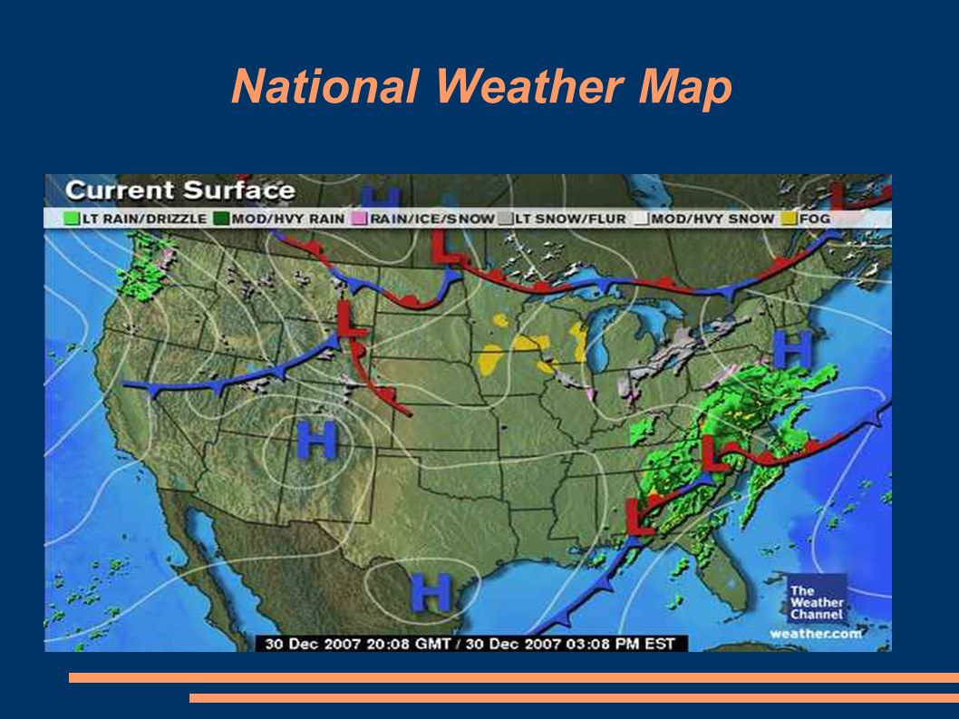 United States Weather Maps. How to Read a Surface Map Surface maps ...
