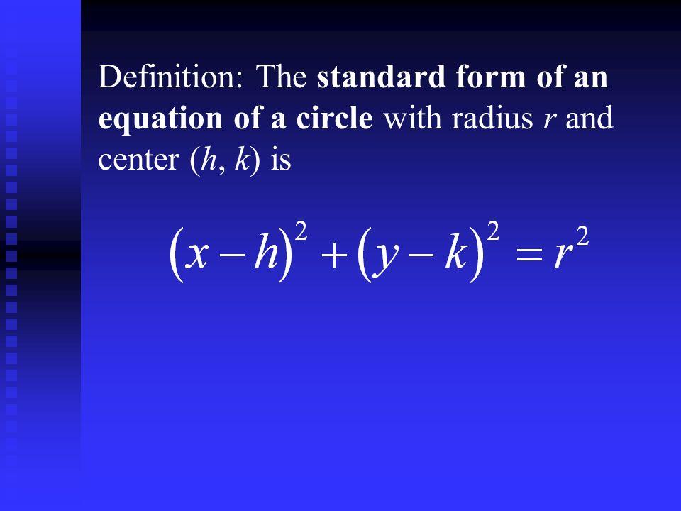 Sullivan Algebra And Trigonometry Section 24 Circles Objectives