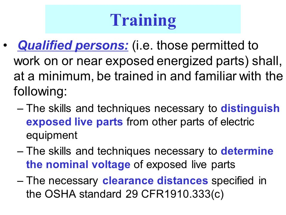 Qualified persons: (i.e.