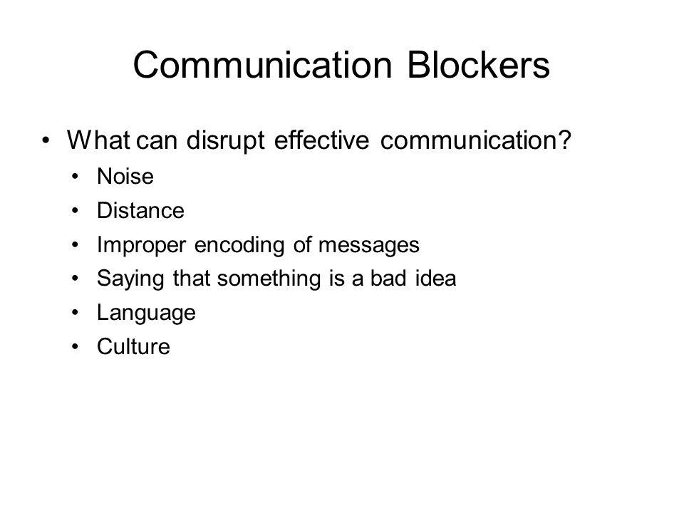 communication blockers Chapter 10 Communications Management. Communications Management ...