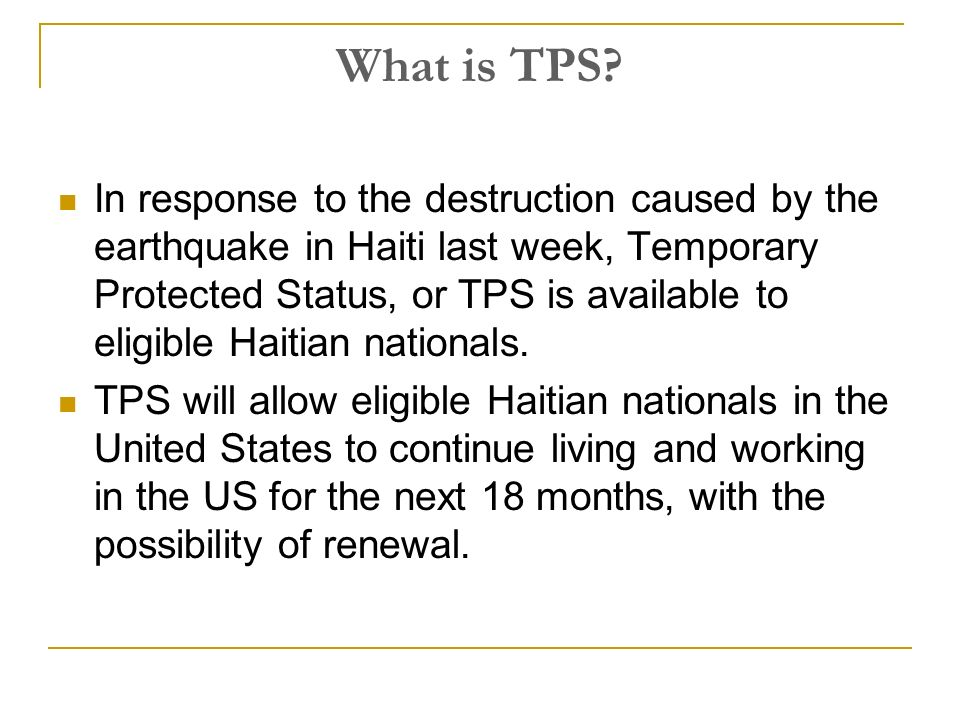 What Is Tps >> Obtaining Tps For Your Haitian Clients What Is Tps In Response To