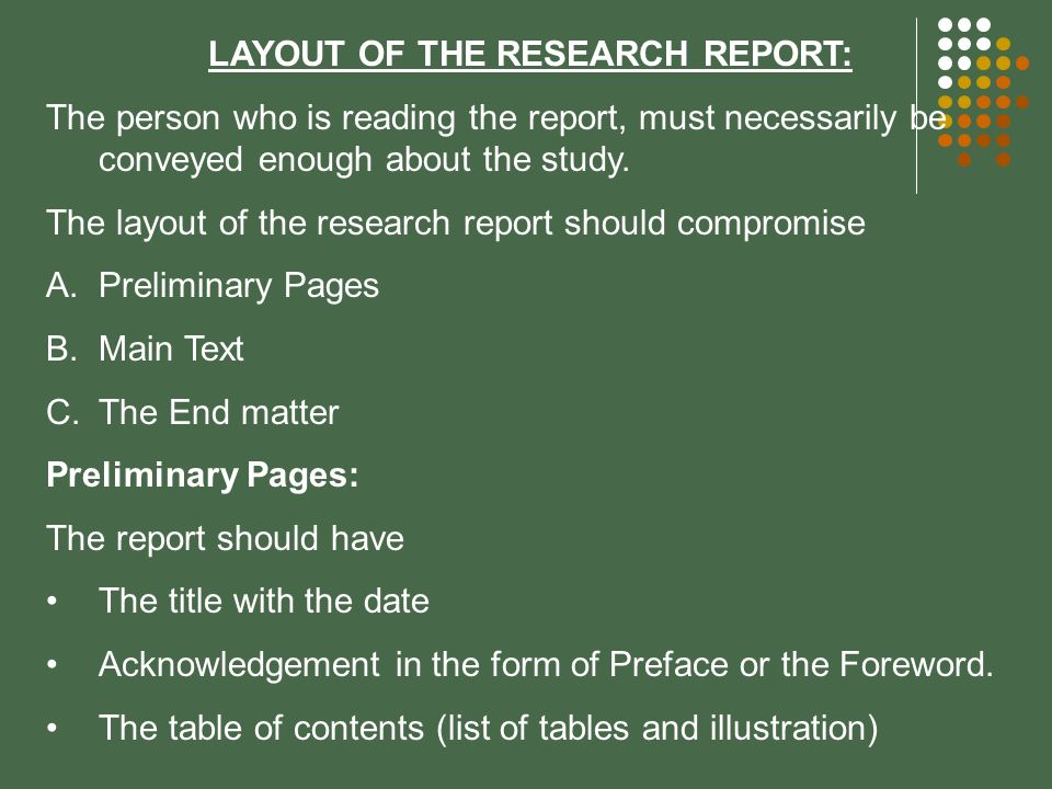 report writing layout A psychology lab report is a paper that describes an experiment organized and written according to the same format used in professional journal articles these are the essentials elements of a psychology lab report and what each should include.