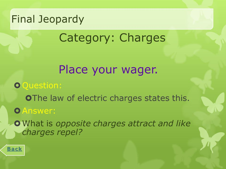 Miscellaneous : 1000  Question:  The law of conservation of charges states this.