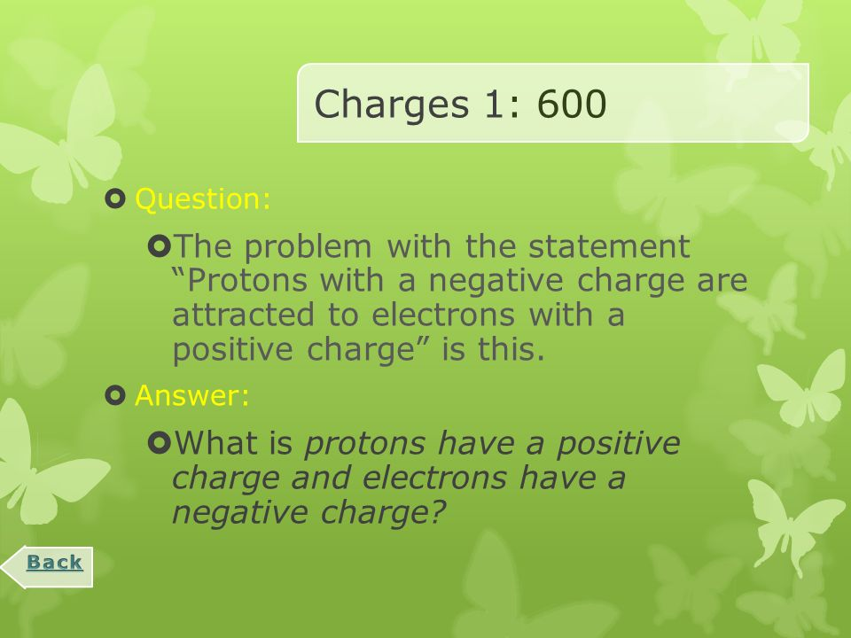 Charges 1 : 400  Question:  Movement of electrons from one object to another through direct contact is caused by this type of charging.