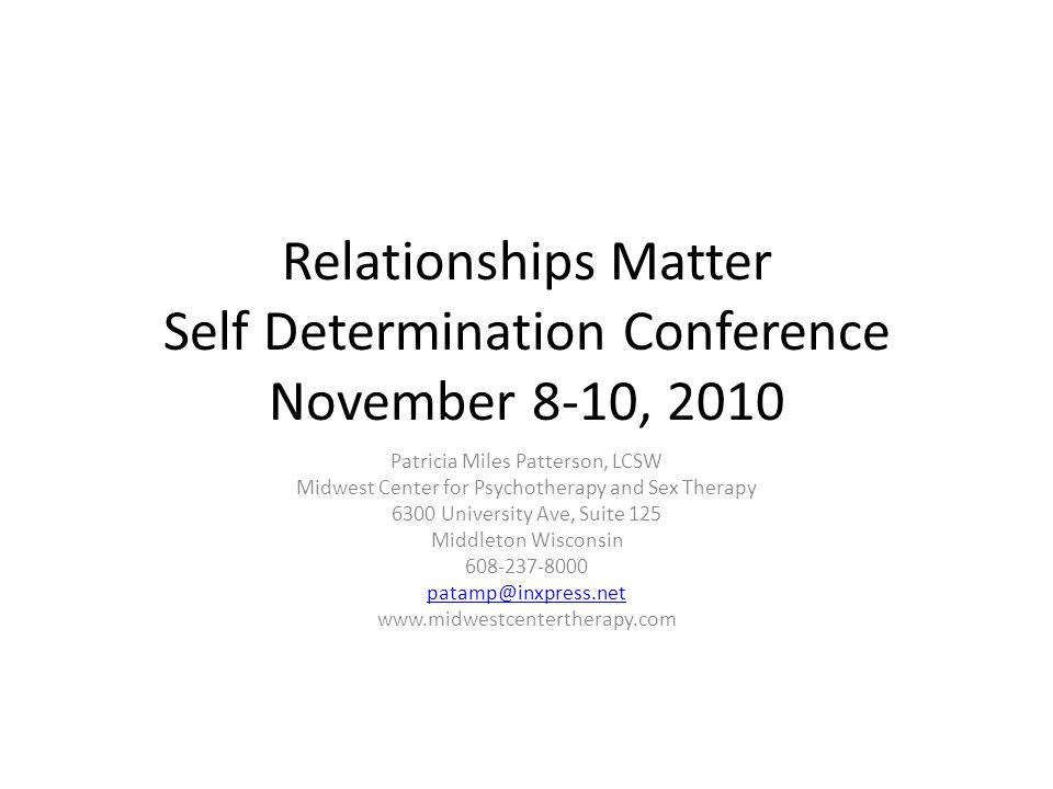 Midwest center for psychotherapy and sex therapy