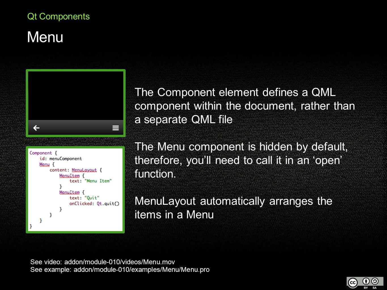 QtQuick Training Course Module Qt Components  What is Qt
