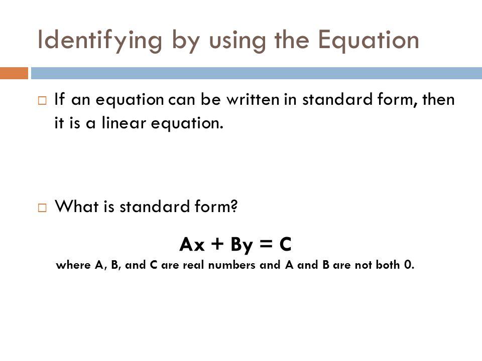 Algebra 51 Identifying Linear Functions Learning Targets Language