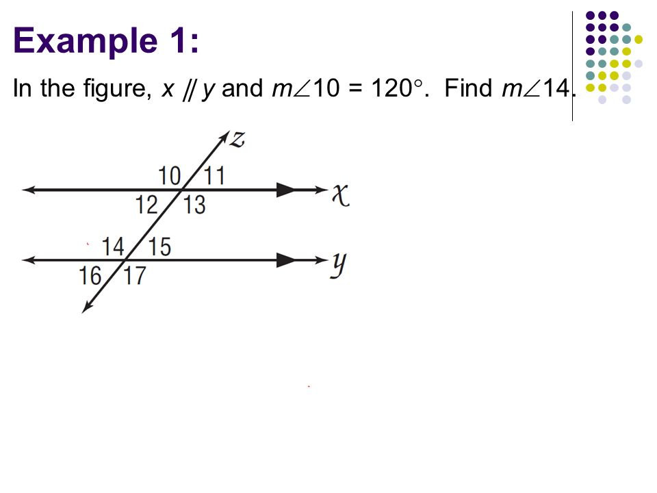 3.2 Properties of Parallel Lines Objectives: TSW … Use the ...