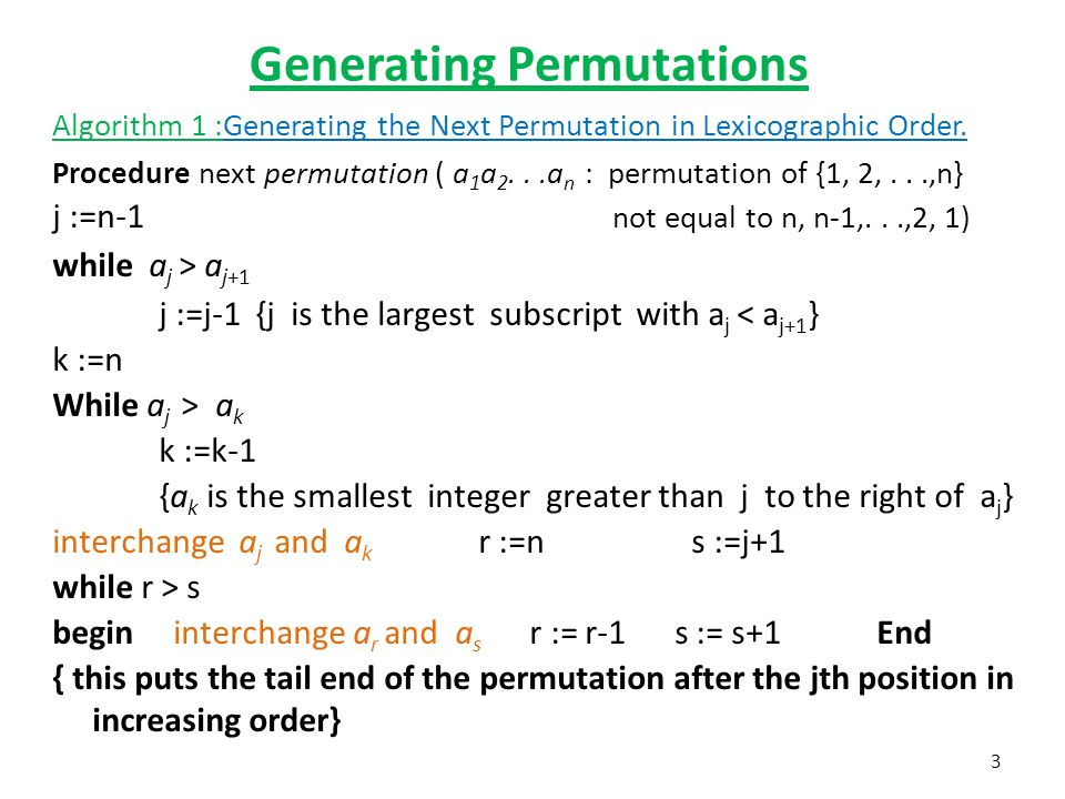 5 6 Generating Permutations and Combinations Generating Permutations