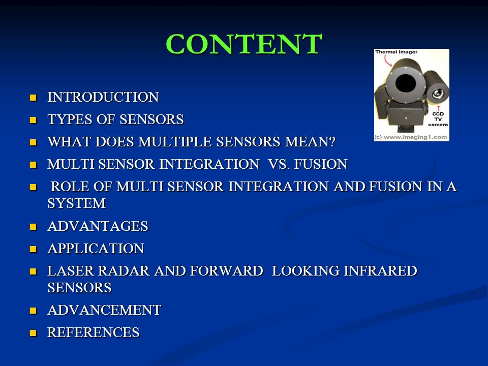 MULTISENSOR INTEGRATION AND FUSION Presented by: Prince Garg  - ppt