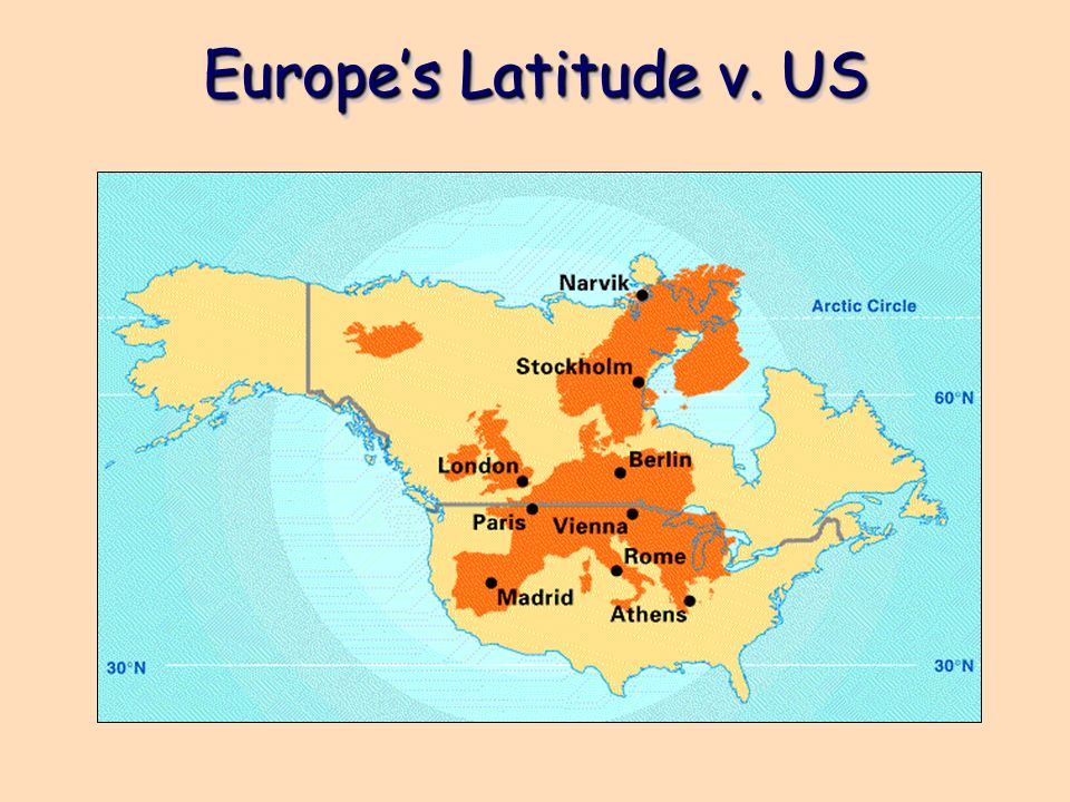 Latitude Map Of Europe.Modern Political Europe Europe S Latitude V Us Ppt Download