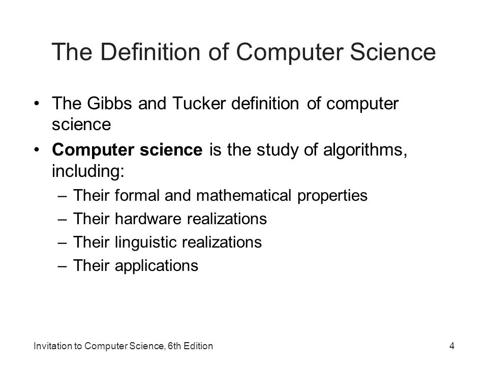 1 invitation to computer science 6 th edition chapter 1 an 4 invitation stopboris Choice Image