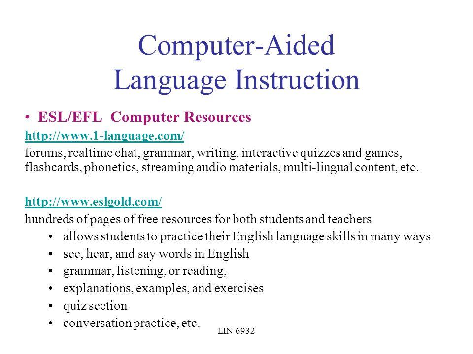 LIN 6932 LIN6932 Topics in Computational Linguistics Lecture