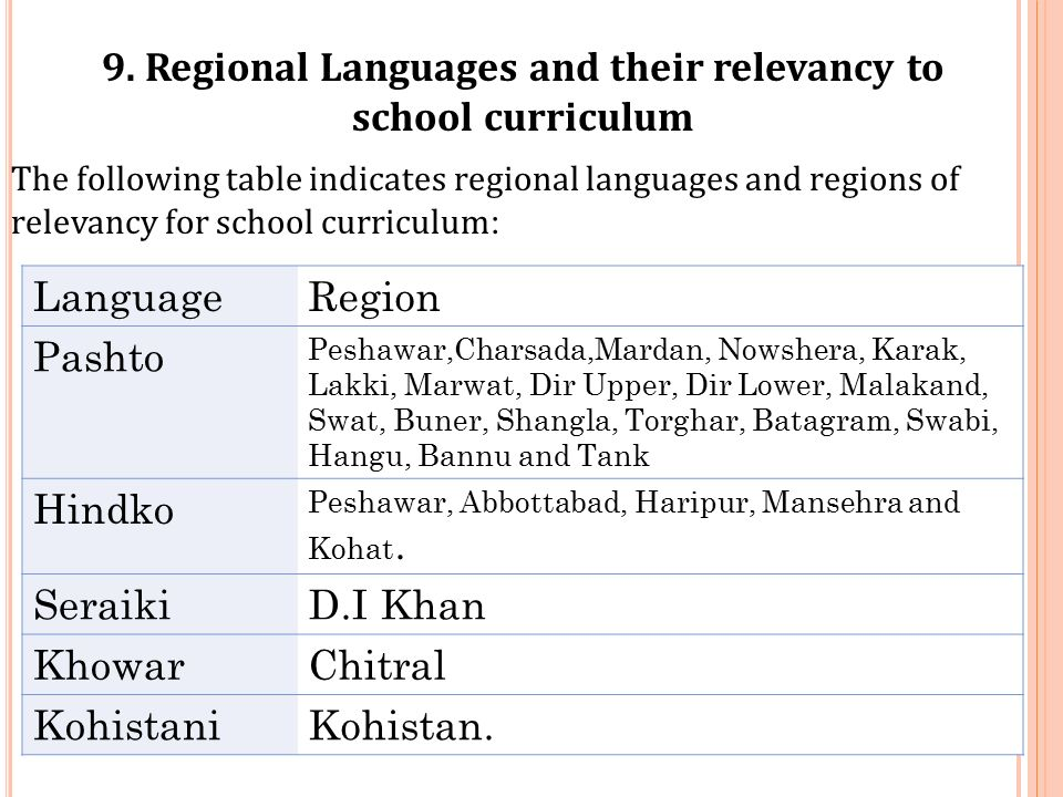 EDUCATION IN LOCAL LANGUAGES IN KHYBER PAKHTUNKHWA (KPK