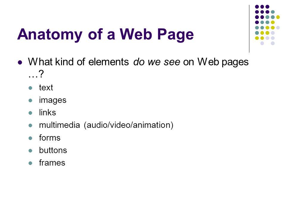 Ca Professional Web Site Development Class 2 Anatomy Of A Web Site