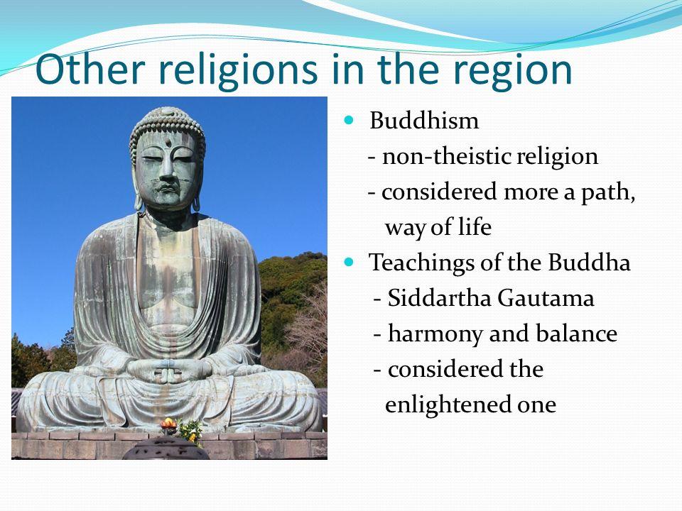 Non theistic religions