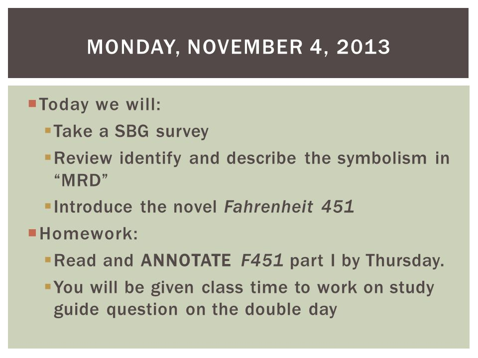 Today We Will Take A Sbg Survey Review Identify And Describe