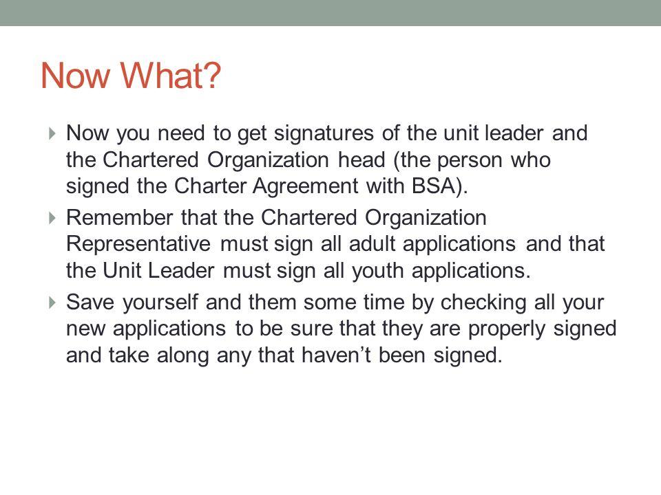 Rechartering Your Scouting Unit A Workshop For Unit Recharter