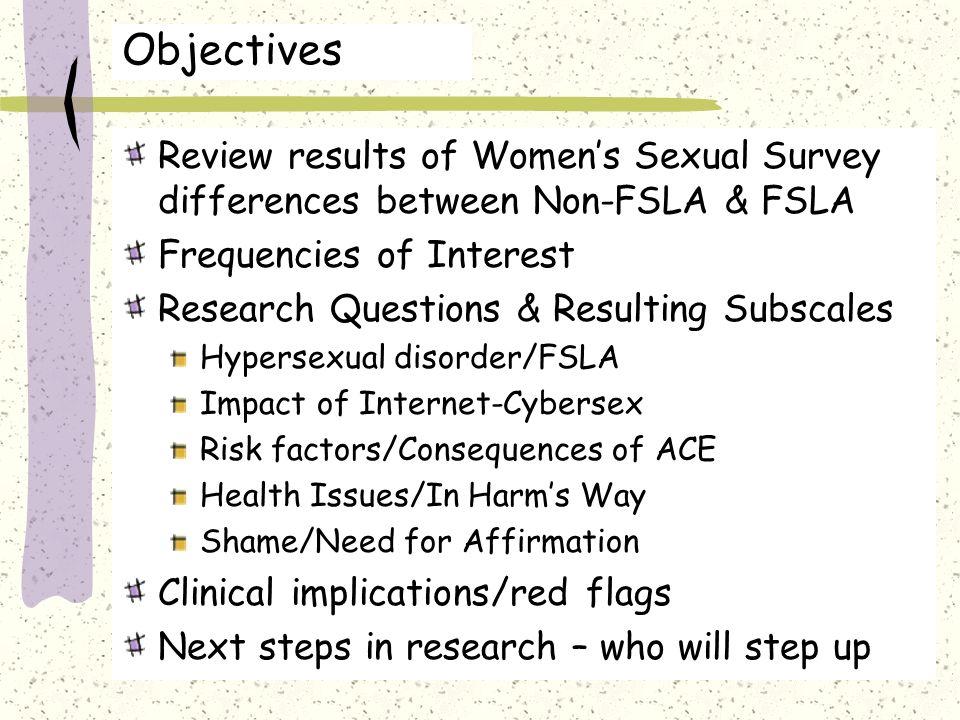 Female sex servey results