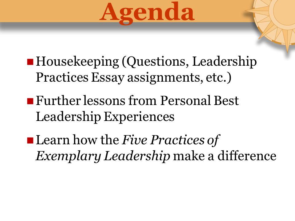personal best leadership experience