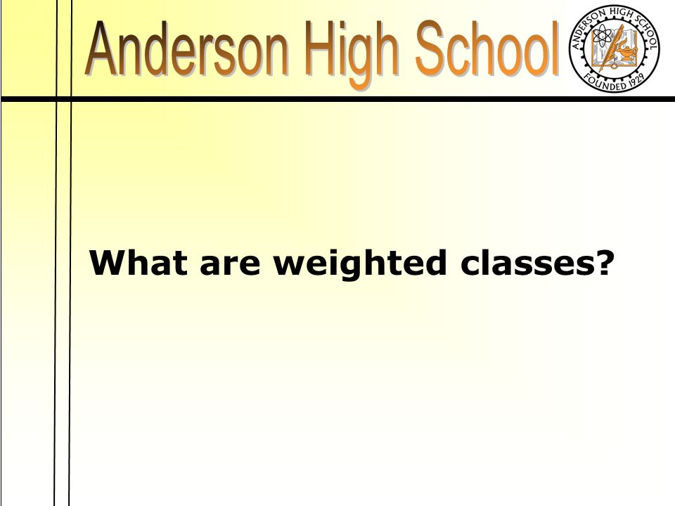 What are weighted classes