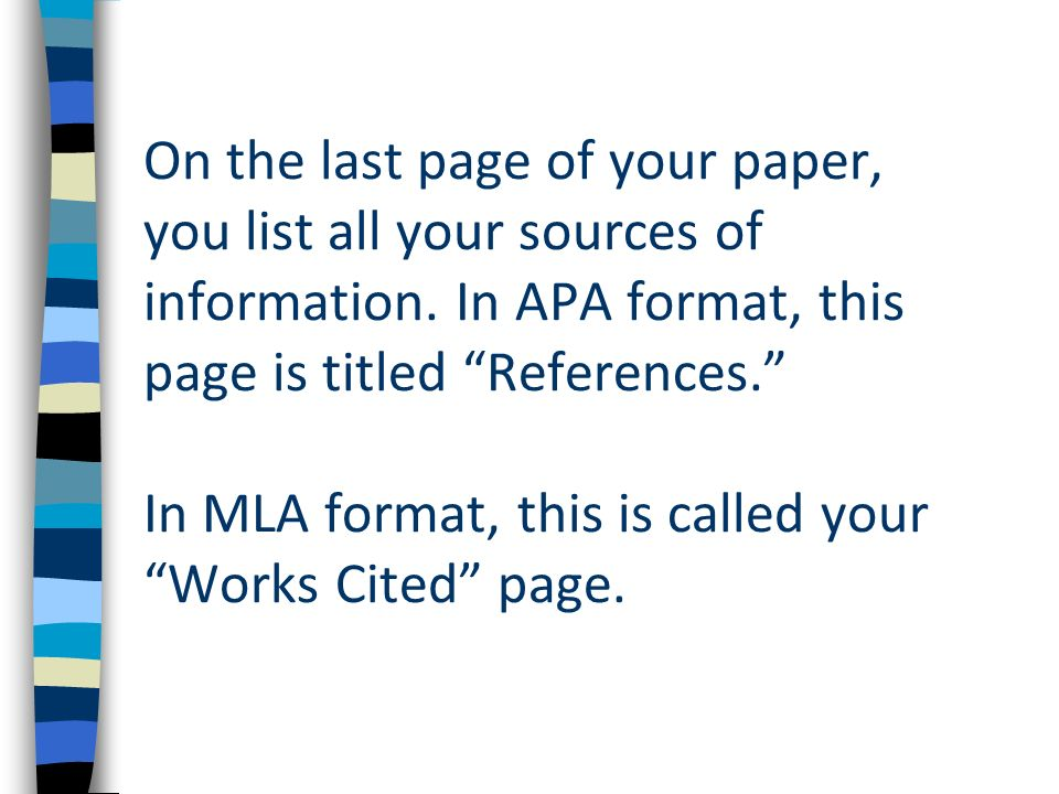 works cited page mla format