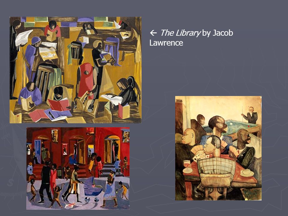  The Library by Jacob Lawrence