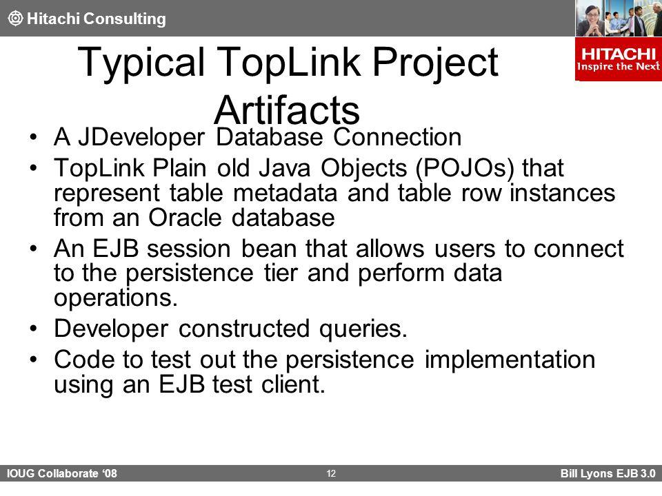 Hitachi Consulting IOUG Collaborate '08 EJB 3 0 Java Persistence API