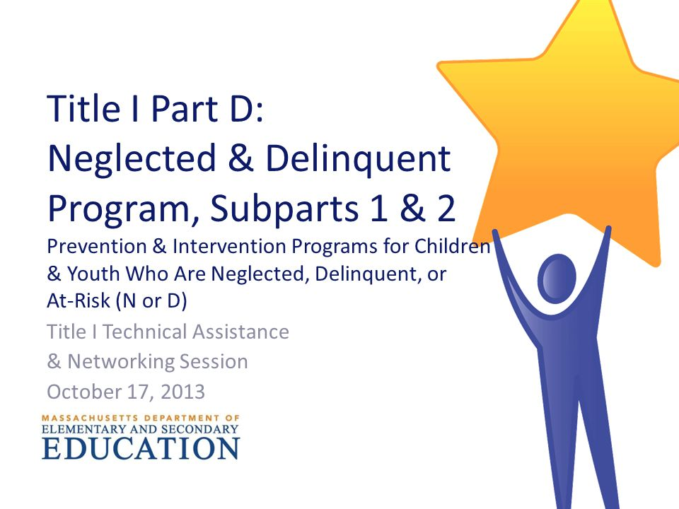 Youth At Risk Neglected Education Of >> Title I Part D Neglected Delinquent Program Subparts 1 2
