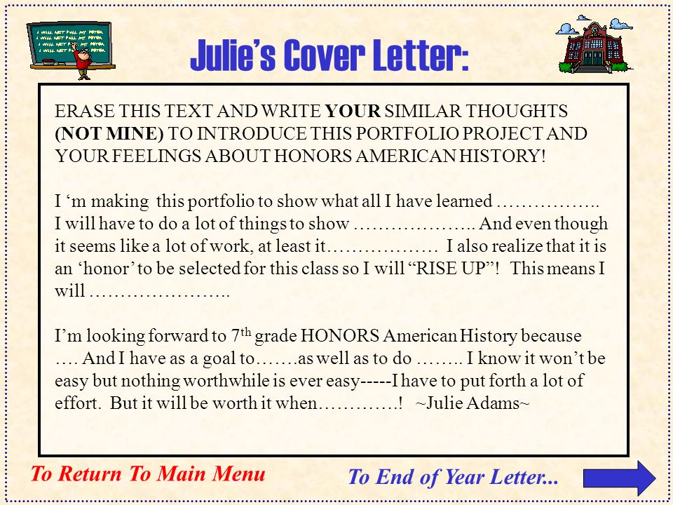 Mr A S H O N O R S American History Reflections Portfolio