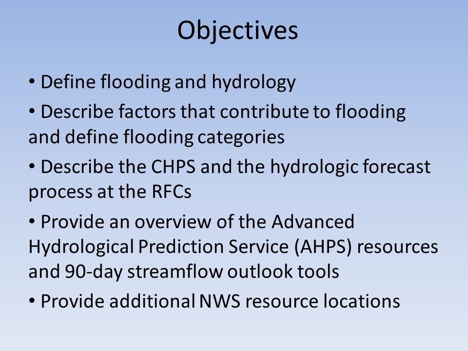 Hydrology in the National Weather Service Mark Fuchs Service