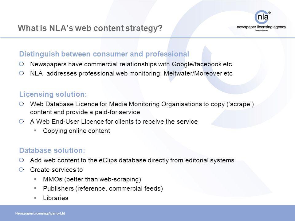 Newspaper Licensing Agency Ltd Newspaper Working Group Copenhagen