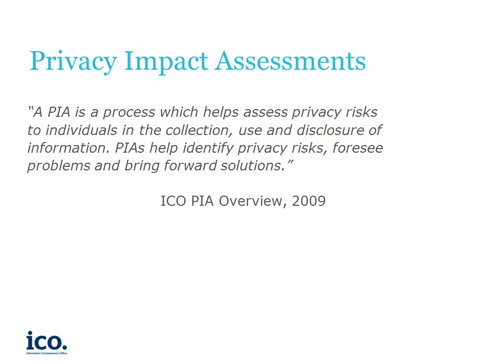 Privacy Impact Assessments Iain Bourne, Group Manager, Policy ...