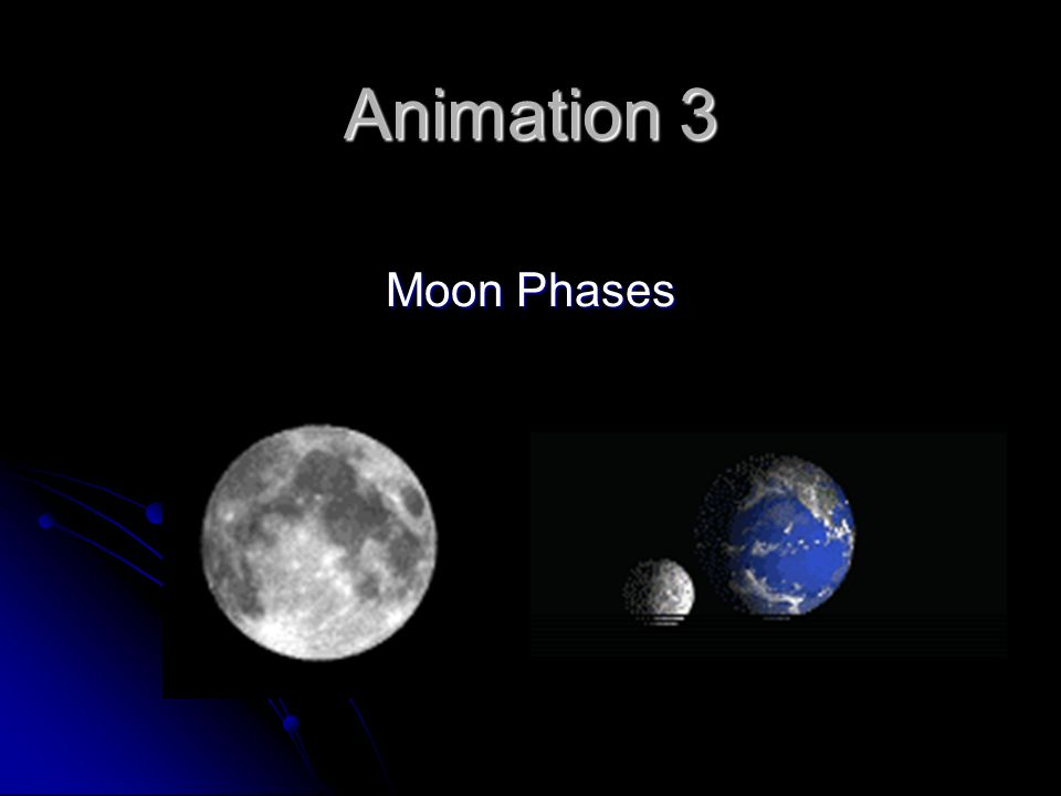 Animation 3 Moon Phases