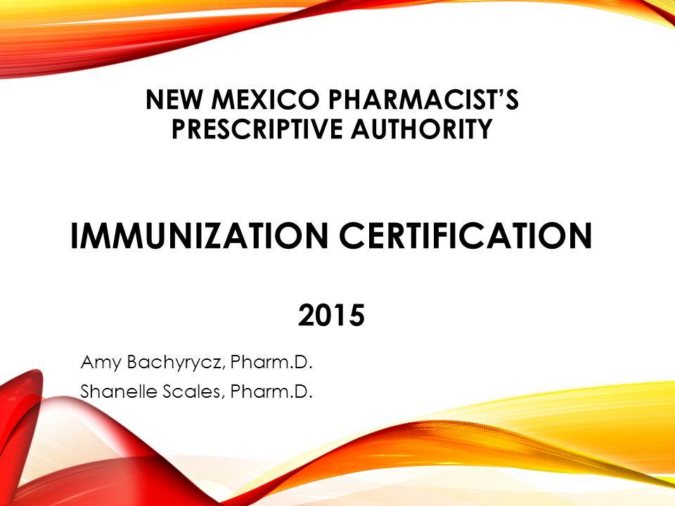 New Mexico Pharmacists Prescriptive Authority Immunization