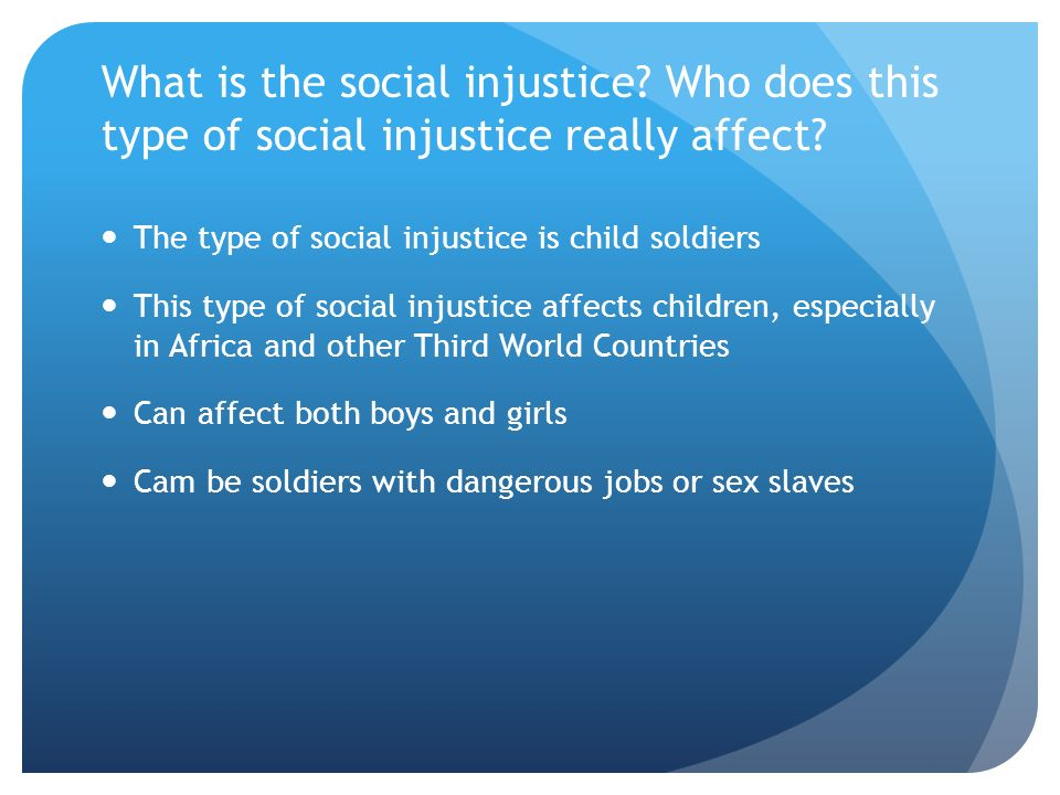 social injustice in africa