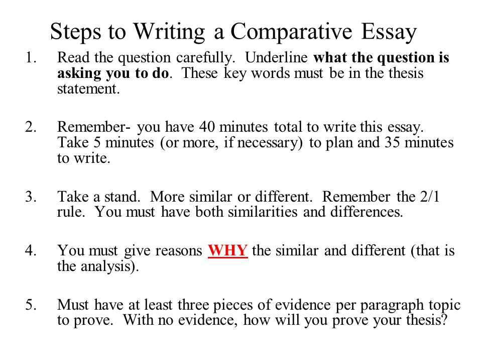 Essay On Interesting Topics Steps To Writing A Comparative Essay Read The Question Carefully Essay On Mother Teresa In Hindi also Compare And Contrast Essay Questions Steps To Writing A Comparative Essay Read The Question Carefully  Christmas Day Essay