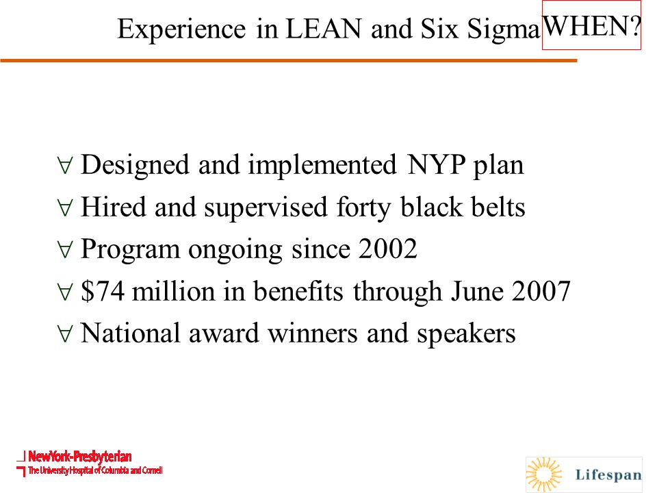 LEAN Six Sigma and Patient Safety Mary Reich Cooper, M D