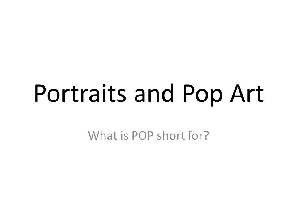 pop art is short for